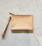 Leather Clutch Bag(M)   *ベージュ*