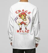 CRACK KILLS Longsleeve T-shirt [ FRC247 ] *ホワイト*