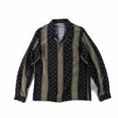 VINTAGE TEXTILE BLACK ALOHA SHIRTS LONG SLEEVE