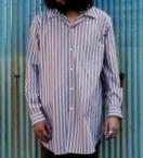 NORMAL STRIPE LONG SHIRTS  *ネイビー*