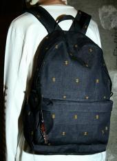 PSYCHICK- CROSS EMBROIDERU BACK PACK *インディゴ*