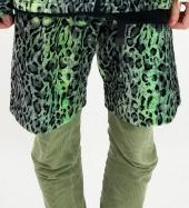 LEOPARD PATTERN SHORTS *イエローグリーン*