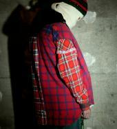 RE-MAKE NEL CHECK SHIRTS *レッド系チェック*