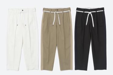 WIDE ANKLE CHINO PATNS *ブラック*