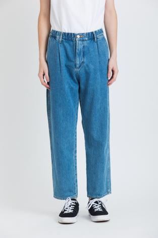 ANKLE DENIM  EASY PANTS *ライトブルー*