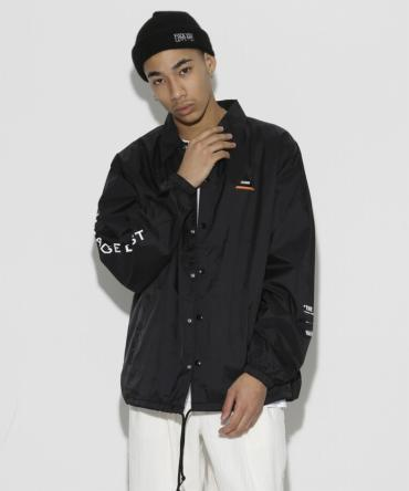 Adam & Eva Nylon Coach Jacket *ブラック*