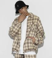 Over Sized TR Check Blouson *ベージュ*