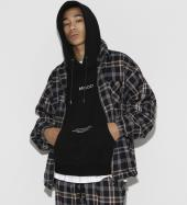 Over Sized TR Check Blouson *ブラック*