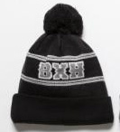 B×H FOOTBALL LOGO KNIT CAP*ブラック*