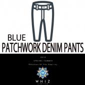 PATCHWORK DENIM PANTS [BLUE]