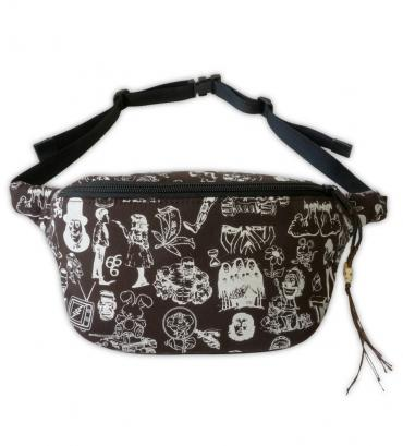 Original silk print west bag   *ホワイト*