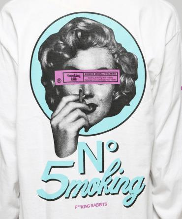 No5moking Longsleeve T-shirt [ FRC396 ] *ホワイト*