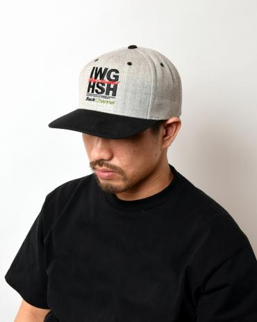 SQUARE LOGO SNAP BACK *ミックスグレー*