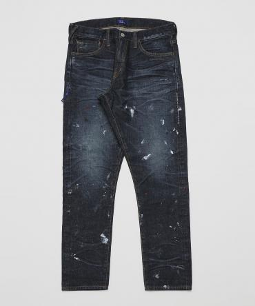 One year wash paint tepered denim pants[ VFP4054 ]