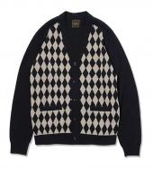 DIAMOND PATTERAN COTTON CARDIGAN *ブラック*