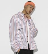 Color Stripe Shirts [ LES160 ] *ピンク*