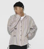 Color Stripe Shirts [ LES160 ] *ベージュ*