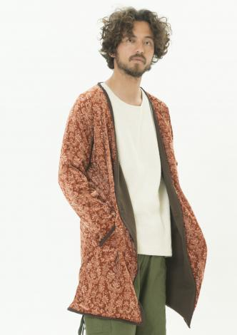 SOLITUDE LONG VELOUR CARDIGAN
