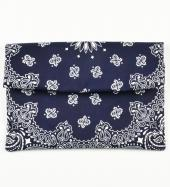BANDANNA CLUTCH BAG *ネイビー*