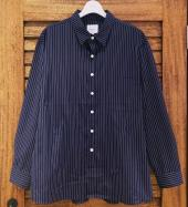 STRIPE BIG SHIRTS *ネイビー*