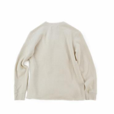 TRANK JACQUARD THERMAL CREWNECK *ナチュラル*