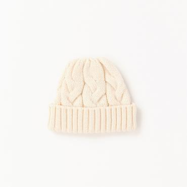 VICTIM×CA4LA / CABLE KNIT CAP *ホワイト*