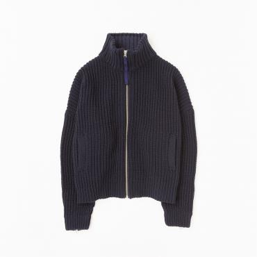 ZIP UP KNIT *ネイビー*