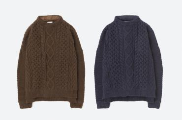 CABLE KNIT *ブラウン*
