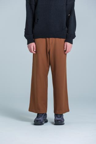 STRETCH WIDE PANTS *ブラウン*