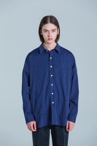 BIG STRIPE SHIRTS *ブラック*
