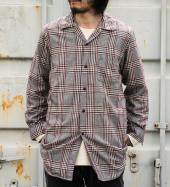 EMBROIDERY CHECK LONG SHIRTS *グレー*