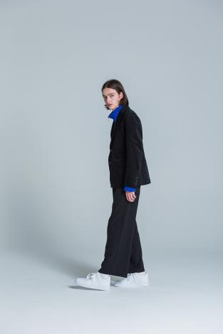 STRETCH WIDE PANTS *ブラック*