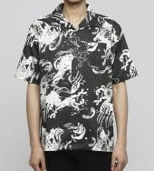 Devil fish shirt [ FRS012 ] *ブラック*