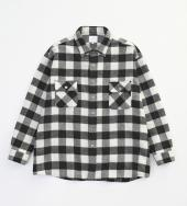 WOOL CHECK OVER SHIRTS *ブラック*