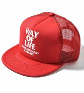 WAY OF LIFE MESH CAP *レッド*
