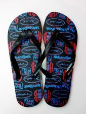 HS BEACH SANDAL *BLACK×RED*