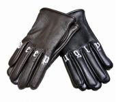LEATHER GLOVE DEEP URGLY *ブラウン*