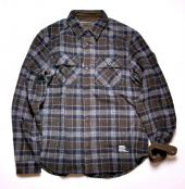 SHAGGY WOOL CPO SHIRT*グレー*