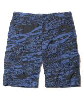 GHOSTLION CAMO CARGO SHORTS *ネイビー*