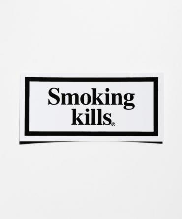 """Smoking kills"" BOX LOGO STICKER[FRA069] *BK*"