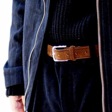 LEATHER BELT *ブラウン*