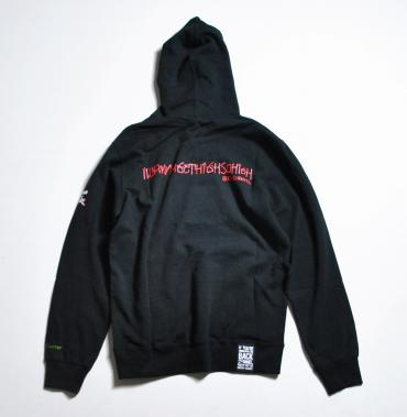 × UP IN SMOKE PULLOVER PARKA *ブラック*