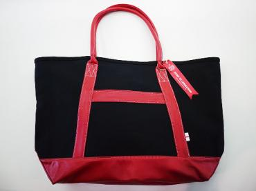 ×whiz SURPRISE LEATHER TOTE BAG *BLACK×RED*