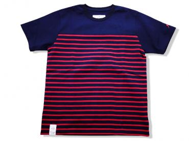 ×whiz SURPRISE PANEL S/S *NAVY×RED*
