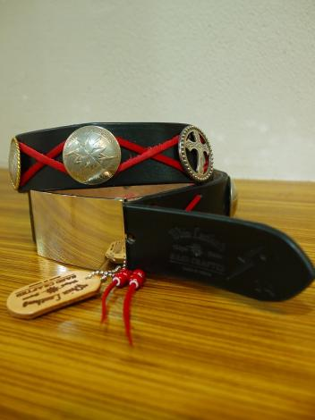 ×Whiz SURPRISE CONCHE BELT2 *BLACK×RED*