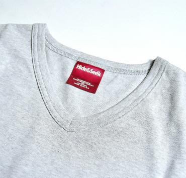 POCKET V-NECK S/S TEE **グレー*
