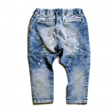 SAROUEL KNIT DENIM DAMAGE 7 PANTS