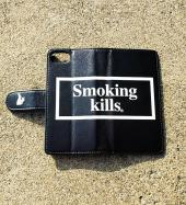 Smoking kills for iPhoneX [FRA191] *ブラック*