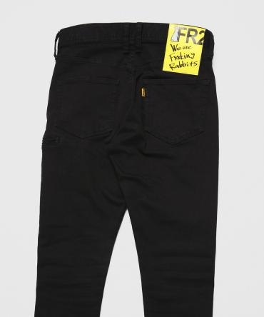 """Hypefit"" High Stretch Black Pants [FRP029] *ブラック*"