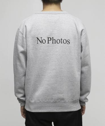 No Photos Sweatshirts[FRC244]   *グレー*